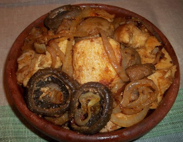 Ojakhuri with Mushrooms and Chicken - Copy
