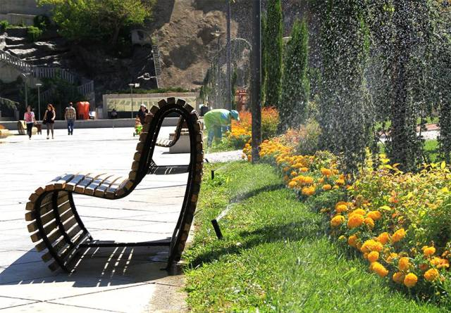 The gardens in Rike Park. Photo courtesy of Tbilisi Government.