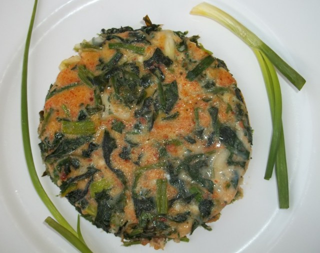 Spinach with Eggs Ready for Serving