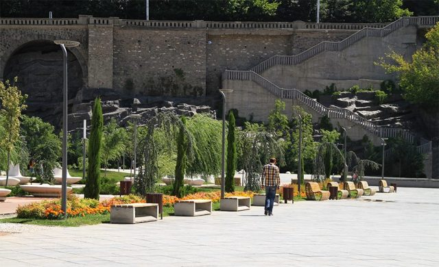 Gardens in Rike Park. Photo courtesy of Tbilisi Government