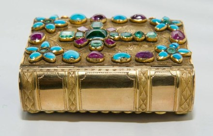 XI century gilded Bible decorated with precious stones