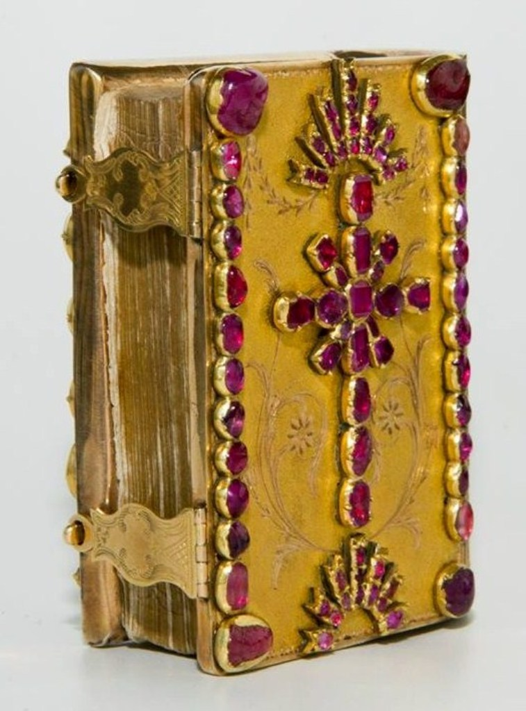 About history xi century gilded bible georgia about for Decorated bible