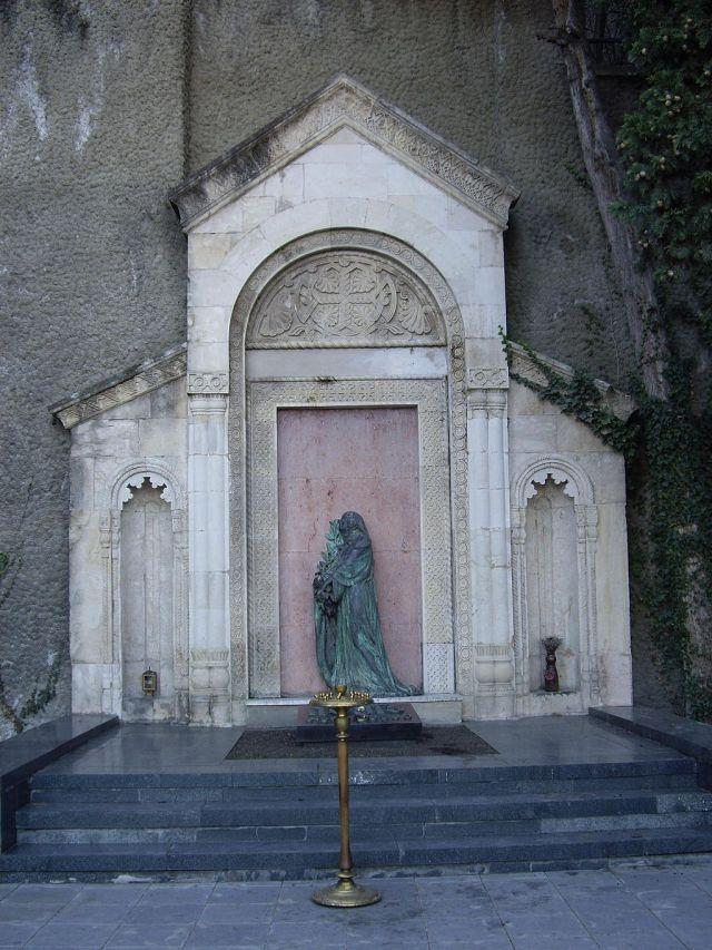 Ilia Chavchavadze's tomb in Tbilisi's Mtsatsminda Pantheon.