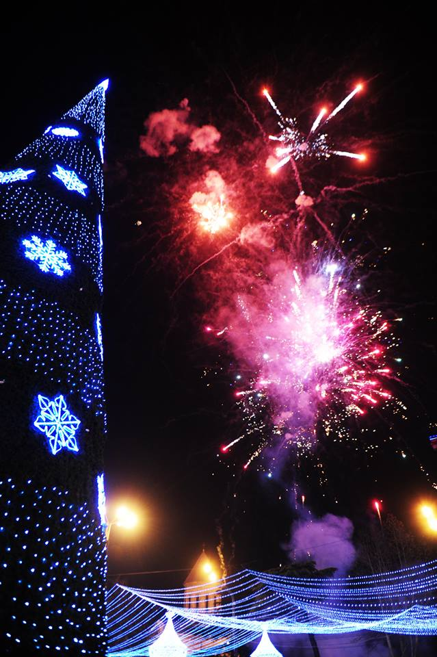 Christmas Fireworks in Tbilisi
