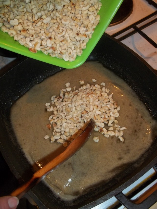 Adding Hazelnuts to Honey - Copy