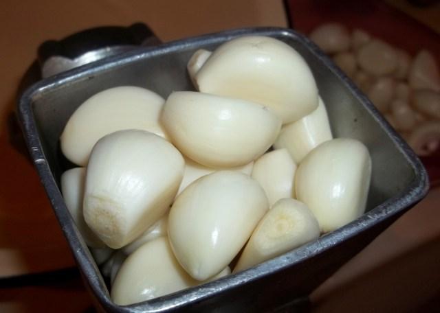 Grinding Garlic