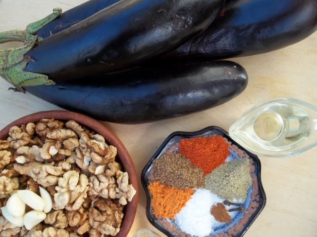 Ingredients for Eggplant Satsivi