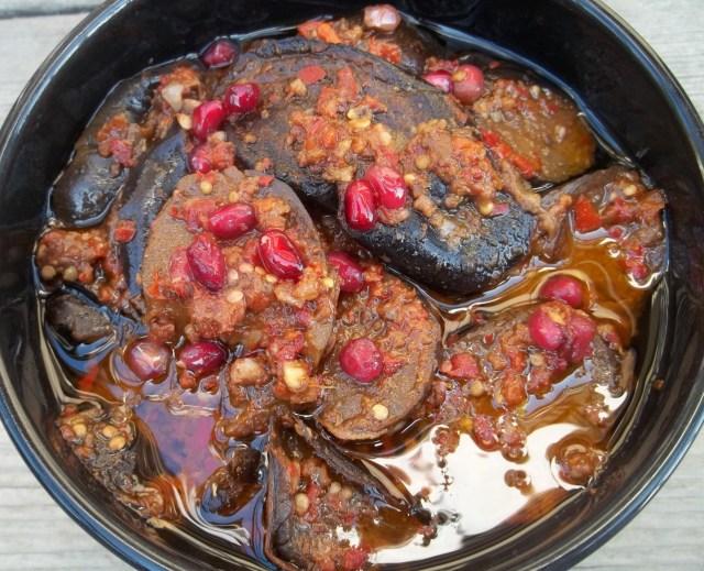 Marinated Eggplant with Pomegranate (2)