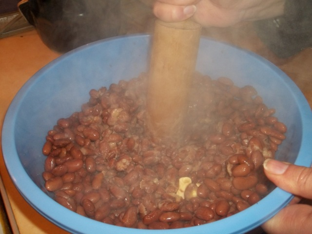 Mashing Boiled Lobio Beans - Copy