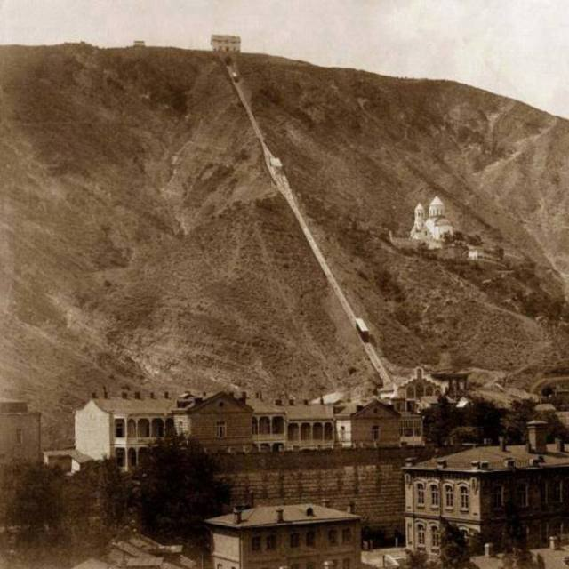 St David's Church and the Funicular Railway in Tiflis