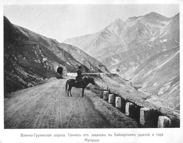 19th century photograph of the Georgian Military Road