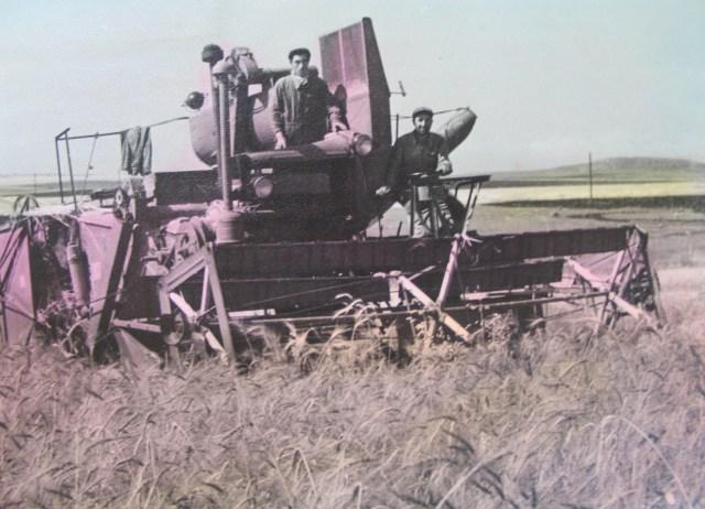 A Combine Harvestor in 1950's Georgia