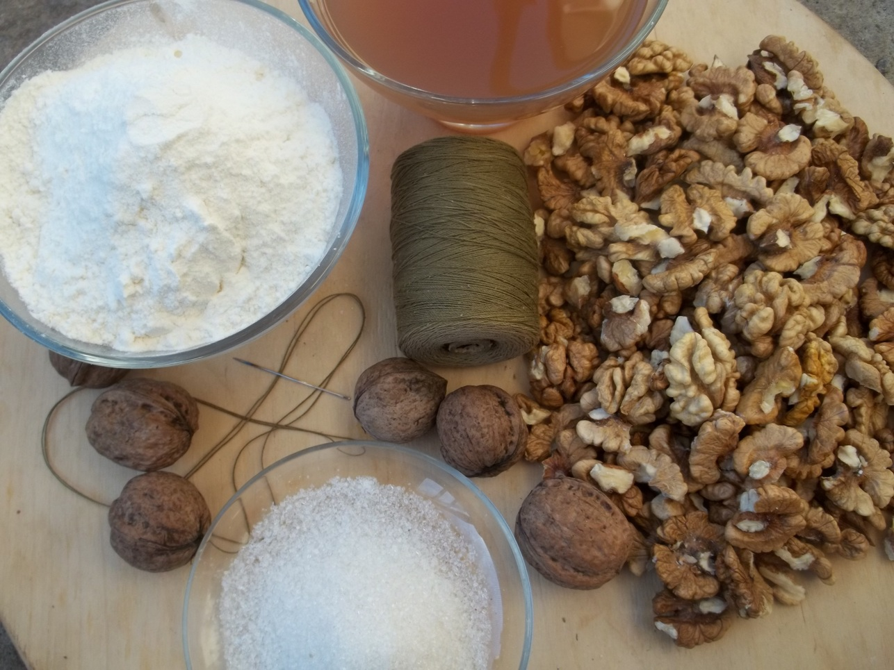 ... this recipe we show how to make churchkhela with walnuts and also