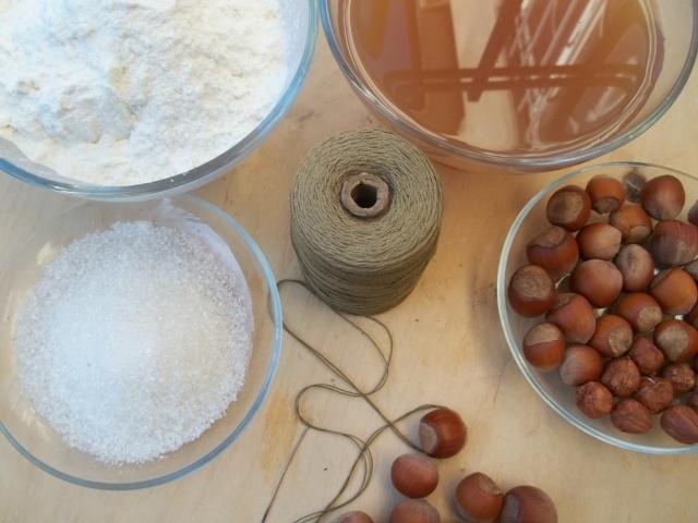 Ingredients for Churchkhela with Hazelnuts - Copy