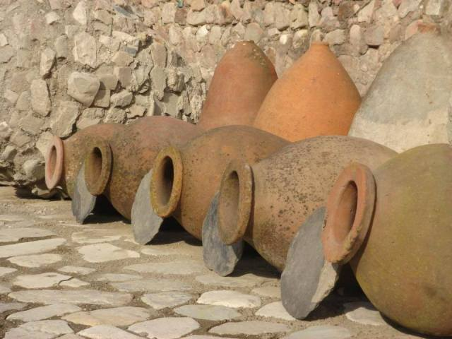The entire wine making process takes place within the Qvevri