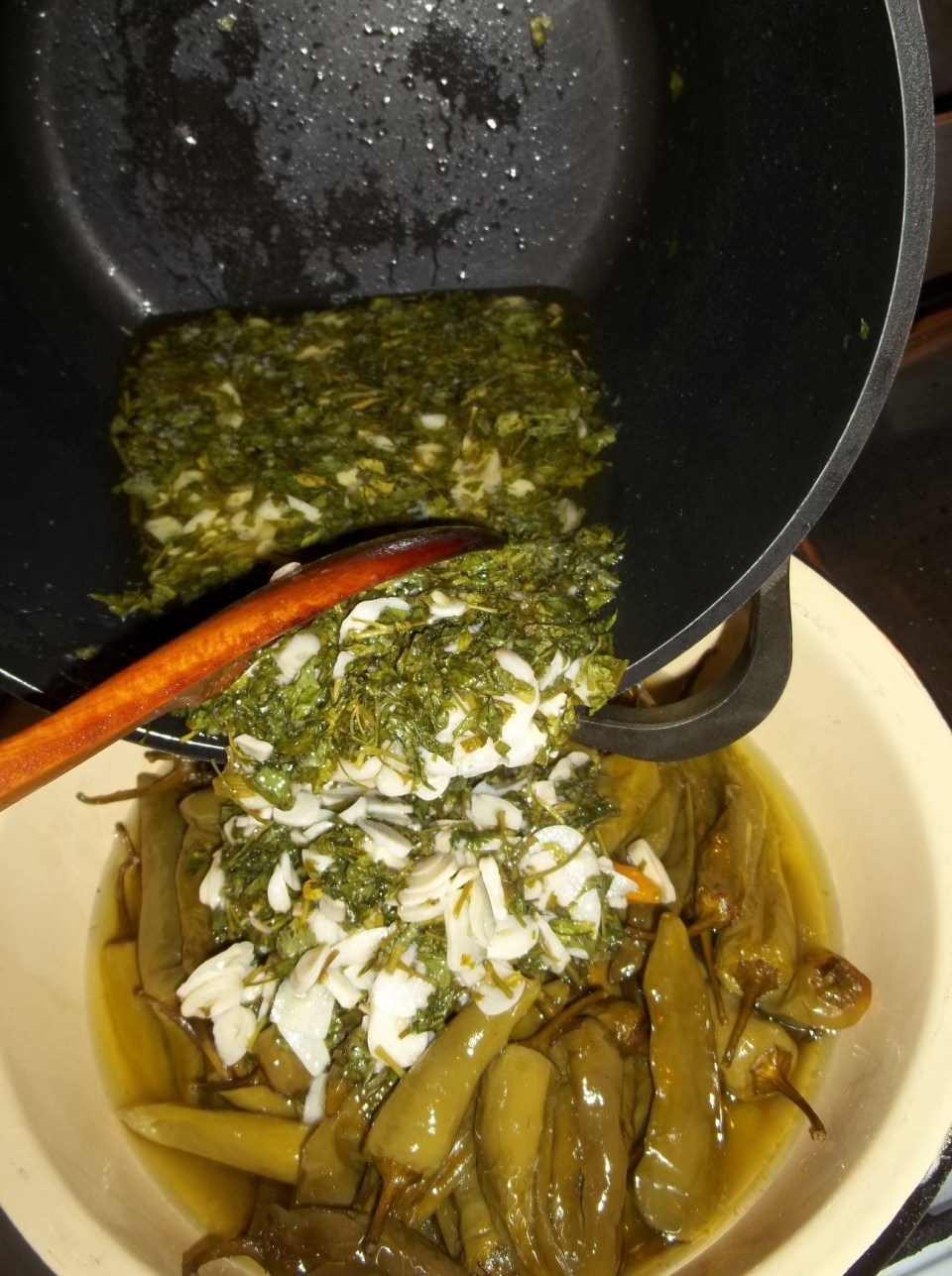 Adding Herbs and Garlic - Copy