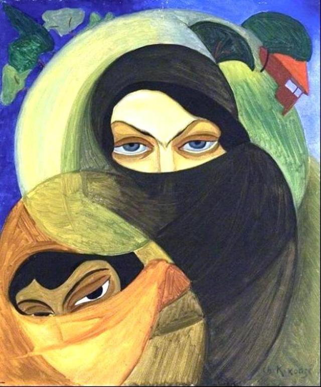 Adjarian Women by Shalva Kikodze