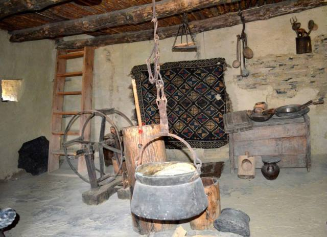 Domestic Implements at the Tusheti Ethnography Museum of Keselo