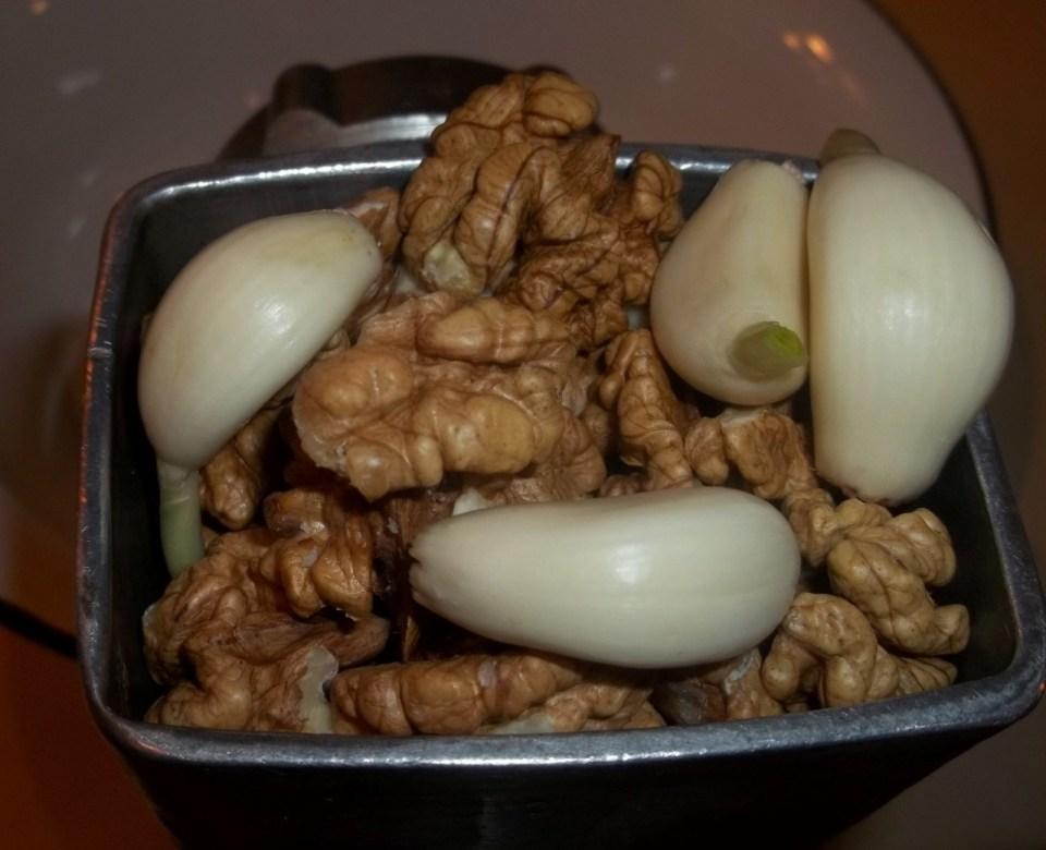 Grinding Walnuts and Garlic - Copy