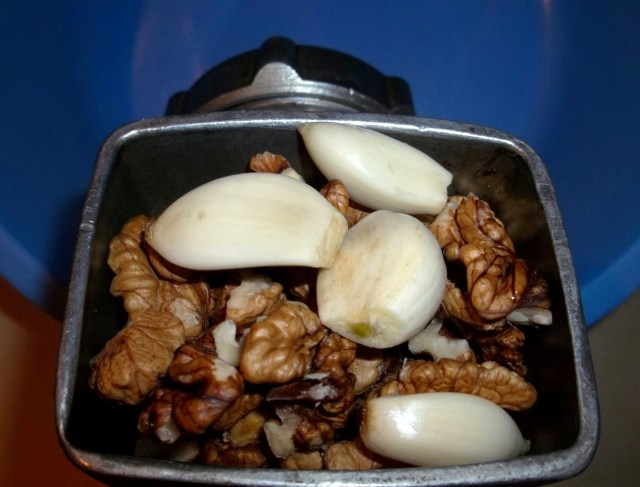 Grinding Walnuts and Garlic - Copy