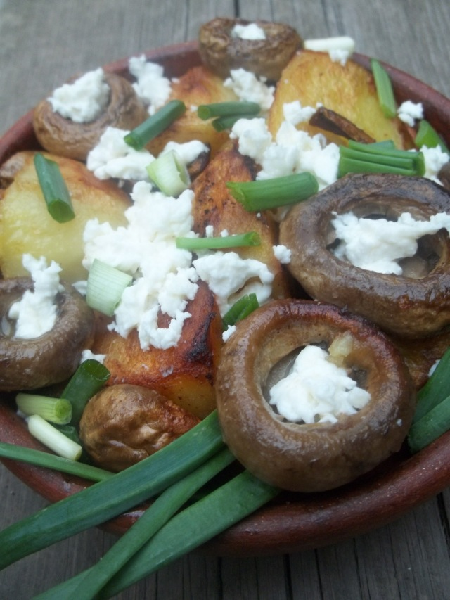 Ojakhuri with Mushrooms and Cheese ready for Serving - Copy