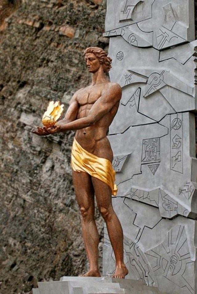 Statue of Amirani in Borjomi