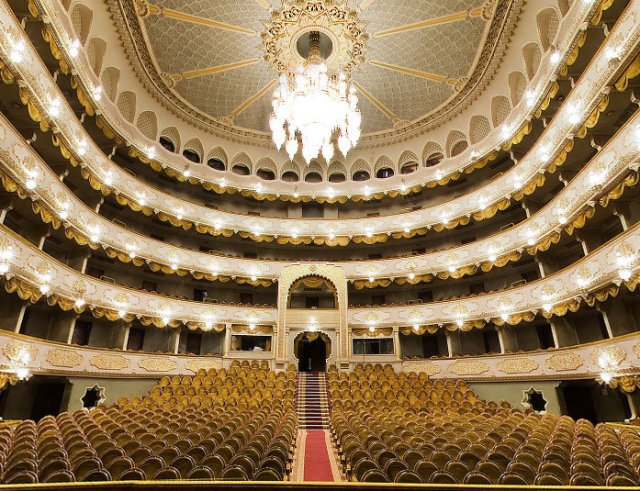 The interior of the Tbilisi State Academic Opera and Ballet Theatre