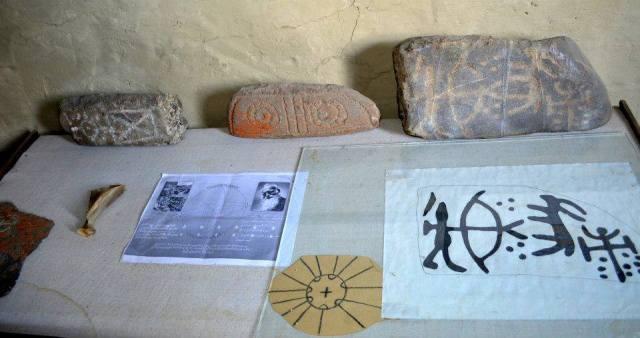 Tushetian Stone Carving Exhibits in the Tusheti Ethnography Museum of Keselo