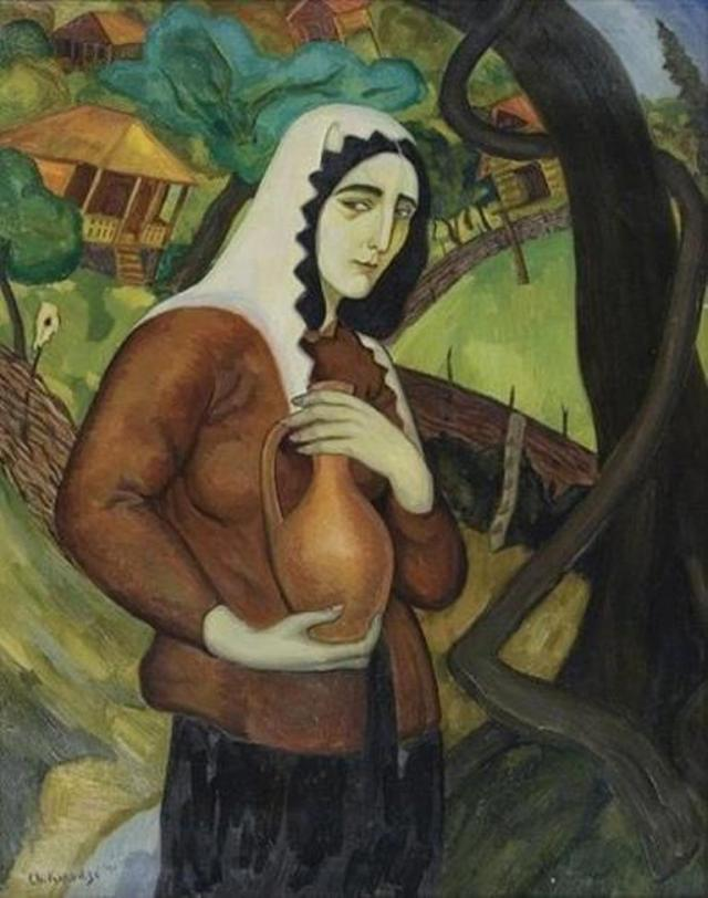 Woman with a Jar by Shalva Kikodze