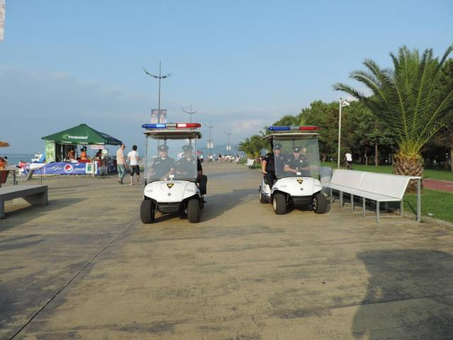 Patrolling Batumi Boulevard