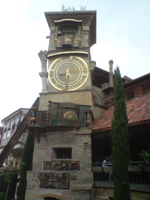 Leaning Clock Tower in Tbilisi