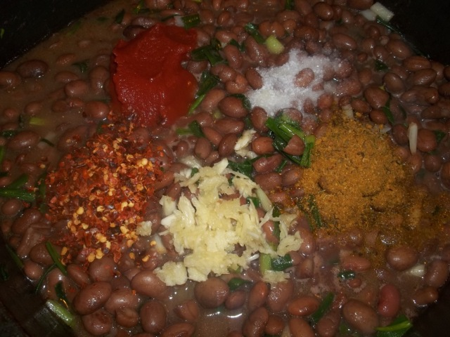 Adding Lobio Spices and Garlic - Copy