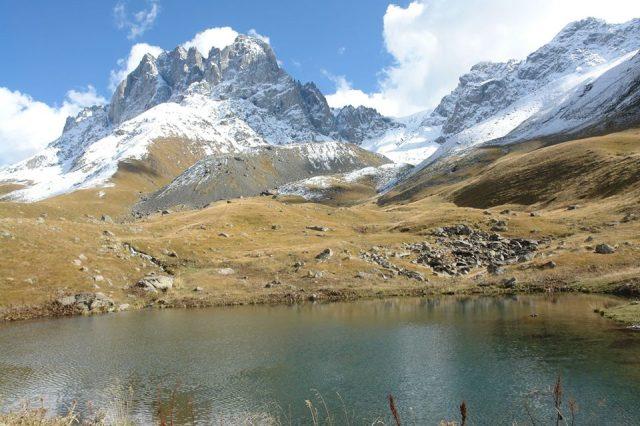 Chaukhi Mountains in Kazbegi National Park