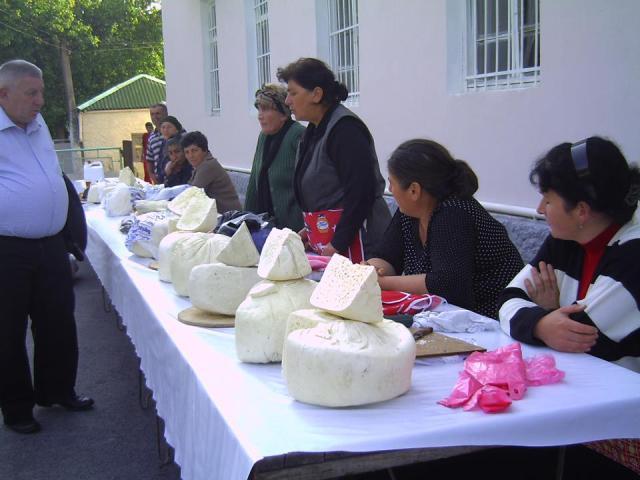 Cheese at the Bidzinaoba Festival