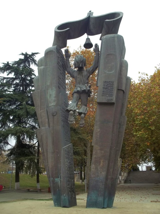 The Deda Ena Statue in Tbilisi