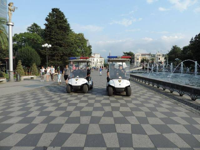 Electric Patrol Vehicles on Batumi Boulevard