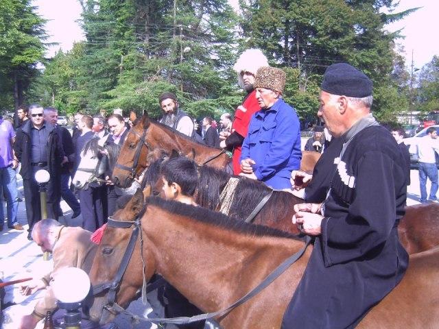 Horsemen at the Bidzinaoba Festival