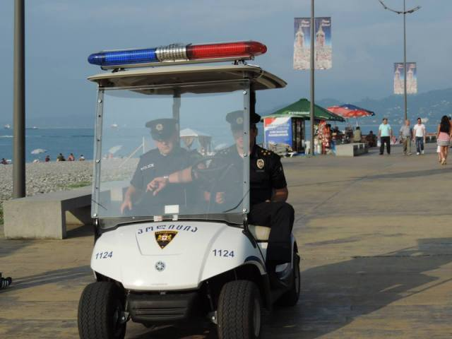 Patrolling the Batumi Boulevard