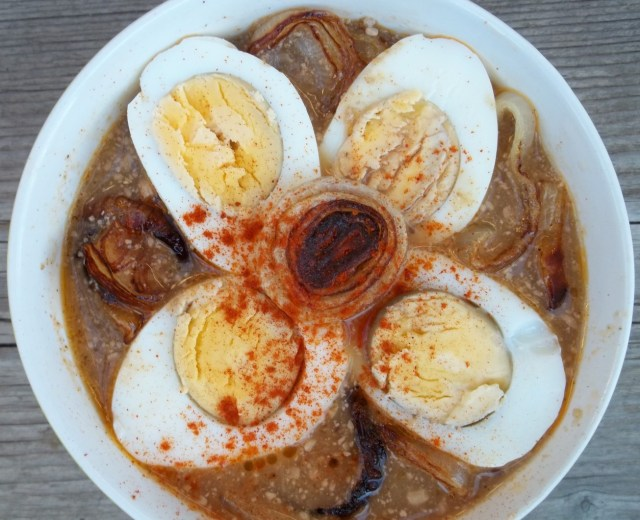 Satsivi with Eggs and Onions ready for serving - Copy