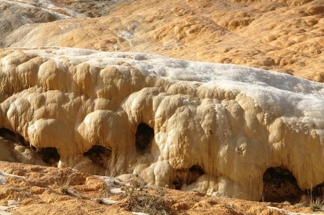 Travertines of Jvari Pass in Kazbegi National Park