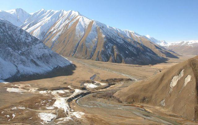 Truso Gorge in Kazbegi National Park