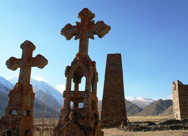 Abano village in Kazbegi National Park