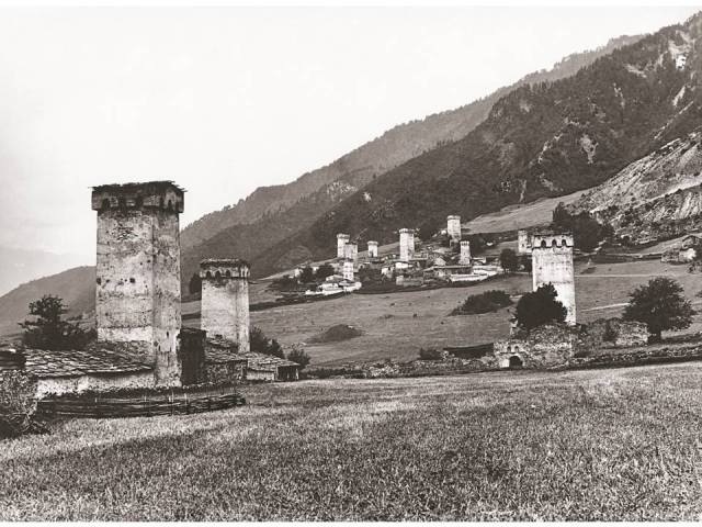 Village of Mestia. 1889. Photo courtesy of  Fondazione Sella, Biella