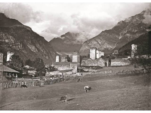 Village of Mujal. 1890. Photo courtesy of  Fondazione Sella, Biella