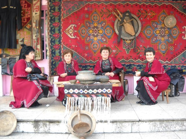 Women in traditional dress at the Bidzinaoba Festival