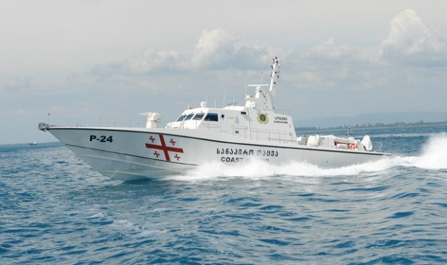 A Coast Guard vessel patrolling the territorial waters of Georgia.