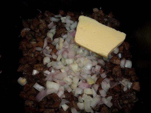 Adding Butter and Chopped Onions - Copy