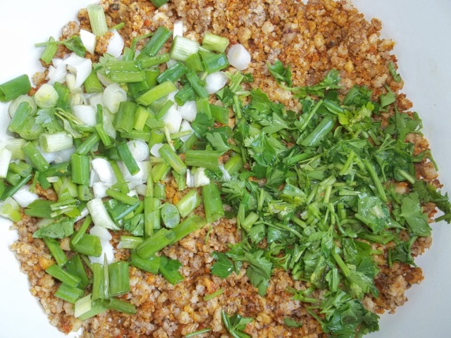 Adding Chopped Ingredients to Nuts - Copy