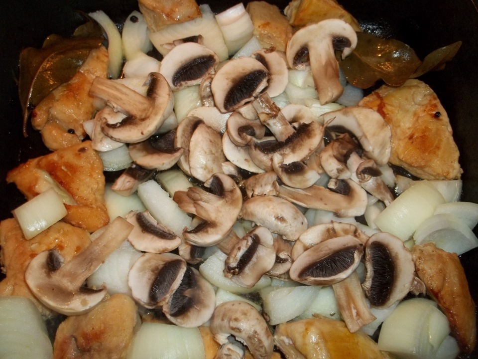 Adding Mushrooms and Onion - Copy