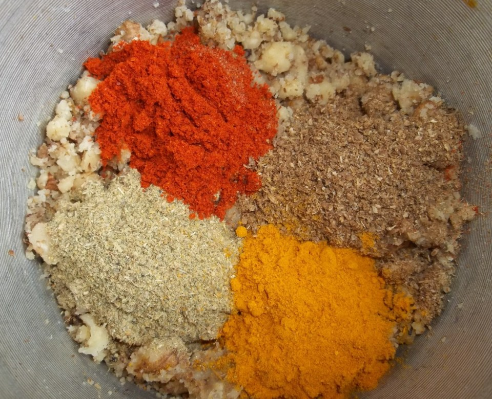 Adding Spices to Crushed Nuts - Copy